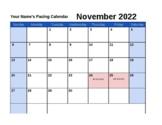 2018-2019 Pacing Calendar Template {editable}
