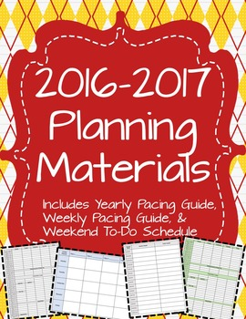 2016 - 2017 Pacing & Planning Materials