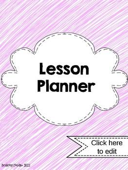 2015-2016 Pink EDITABLE Lesson Planner