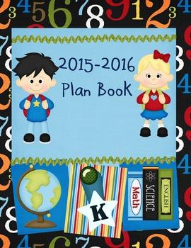 2015-2016 Kindergarten Teacher Plan Book Cover