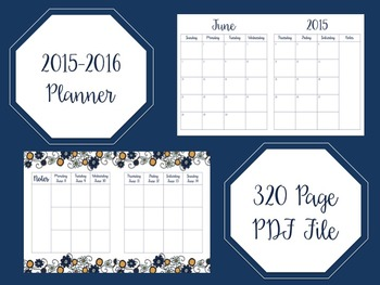 2015-2016 Planner/Agenda
