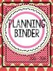 2015 - 2016 Planning Binder