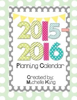 2015-2016 Planning Calendar