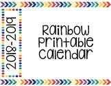 2018-2019 Printable Calendar
