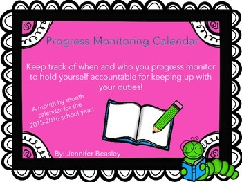 2015-2016 Progress Monitoring Calendar