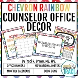2017 - 2018 School Counselor Office Decor (Chevron Rainbow)