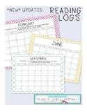 2018-2019 Reading Calendar Log (& Blank Calendar Set)
