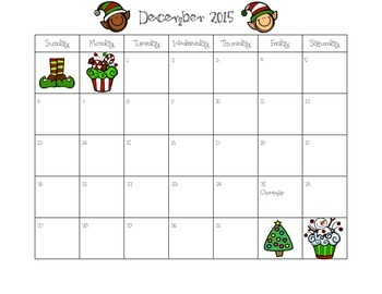2015 2016 School Calendar (Color and Black and White Calendar)