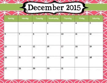 2015-2016 School Year Calendar