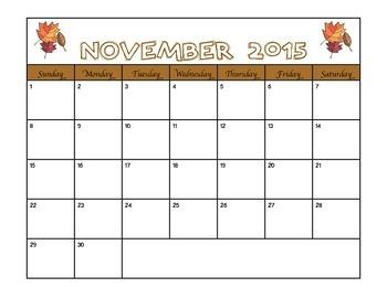 2015 - 2016 School Year Calendar