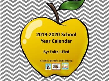 2016-2017 School Year Calendar with Seasonal Graphics