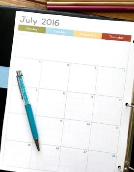 2016 - 2017 School Year Complete Teacher Planner (Vintage