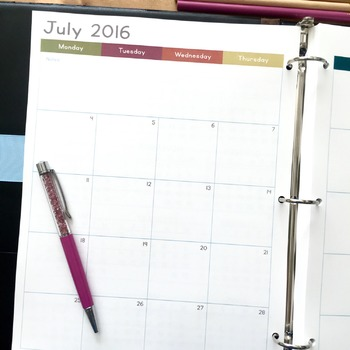 2016 - 2017 School Year Complete Teacher Planner (Old Scho