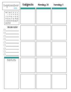 2015-2016 School Year Planning Book