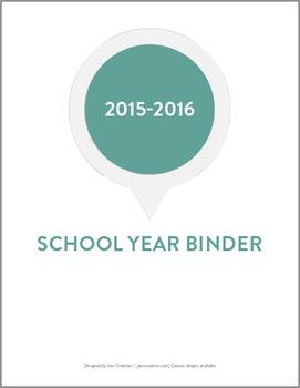 2015-2016 Simple Teacher Binder