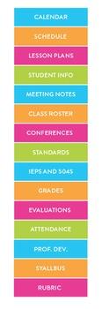 2015-2016 Simple Teacher Binder (Neon)