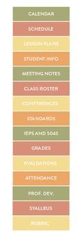 2015-2016 Simple Teacher Binder (Pastel)