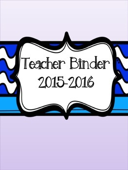 2015-2016 Teacher Binder