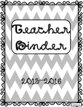 2015-2016 Teacher Binder