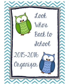 2015-2016 Owl Themed Teacher Planner