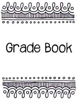 2015-2016 Teacher Binder Black and White Design Editable