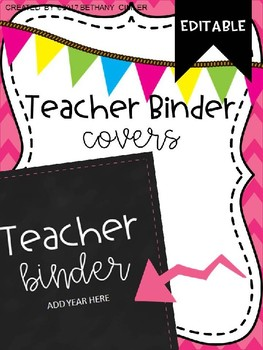 UPDATED 2016-2017 Teacher Binder Cover FREEBIE