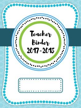 2017-2018 Teacher Binder Covers