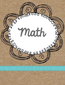 2017-2018 Burlap Teacher Binder {EDITABLE}