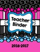 "Teacher Binder Pack 2016-2017- ""Amanda Edition"" (Covers and Planning Pages)"