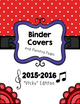 """2015-2016 Teacher Binder Pack - """"Vicky Edition"""" (Covers an"""