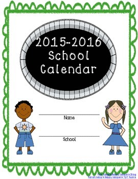 2015-2016 Teacher Binder and Calendar (Portrait Edition)