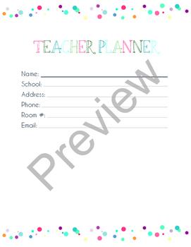 Editable Teacher Planner, Lesson Planner, & Teacher Binder in PDF & Free Updates