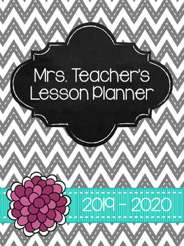Gray, Turquoise and Pink Planner *EDITABLE**