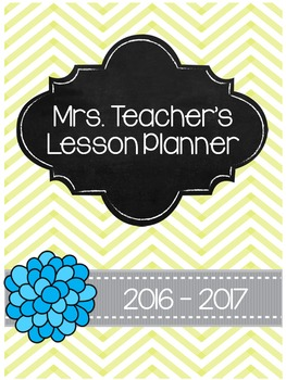 2016-2017 Teacher Planner - Grey & Yellow Chevron *EDITABLE