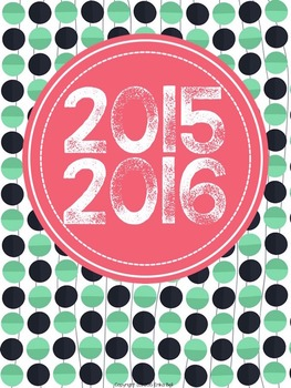"""2016-2017 Teacher Planner in """"Keep It Cool"""" Elementary & Secondary"""