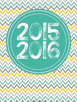 "2015-2016 Teacher Planner in ""Mellow Yellow Cool"" Elementary & Secondary"