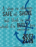 "2017-2018 Teacher Planner in ""Sail Away"" Elementary & Secondary"