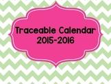 2015-2016 Traceable Calendar 2