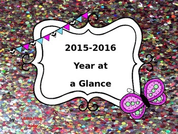 2015-2016 Year at a Glance *FREE*