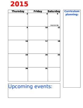 2015-2016 editable planner