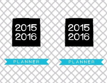 2015-2016 Calendar, Planner, weekly pages, daily pages and workout logs