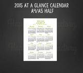 2015 At A Glance Calendar