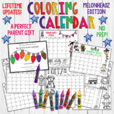 Coloring Calendar. Parent Christmas Gift! Easy, FUN, Cute. Lifetime Updates!