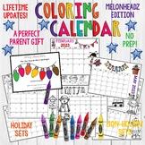 Coloring Calendar. Parent Christmas Gift! Easy, FUN, Cute.