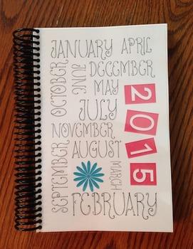 2015 Calendar, Planner and Workout Log