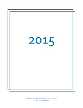 2015 Calendar with Productivity Tracking