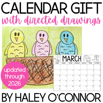 Family Calendar Parent Gift With Directed Drawings {2018-2021}