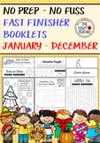 Fast Finisher Resources for January - December *No Prep - No Fuss*