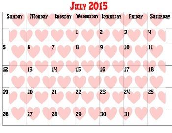 2015 Full Calendar