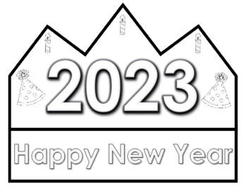 2018 Happy New Year Crowns (Free Yearly Updates)